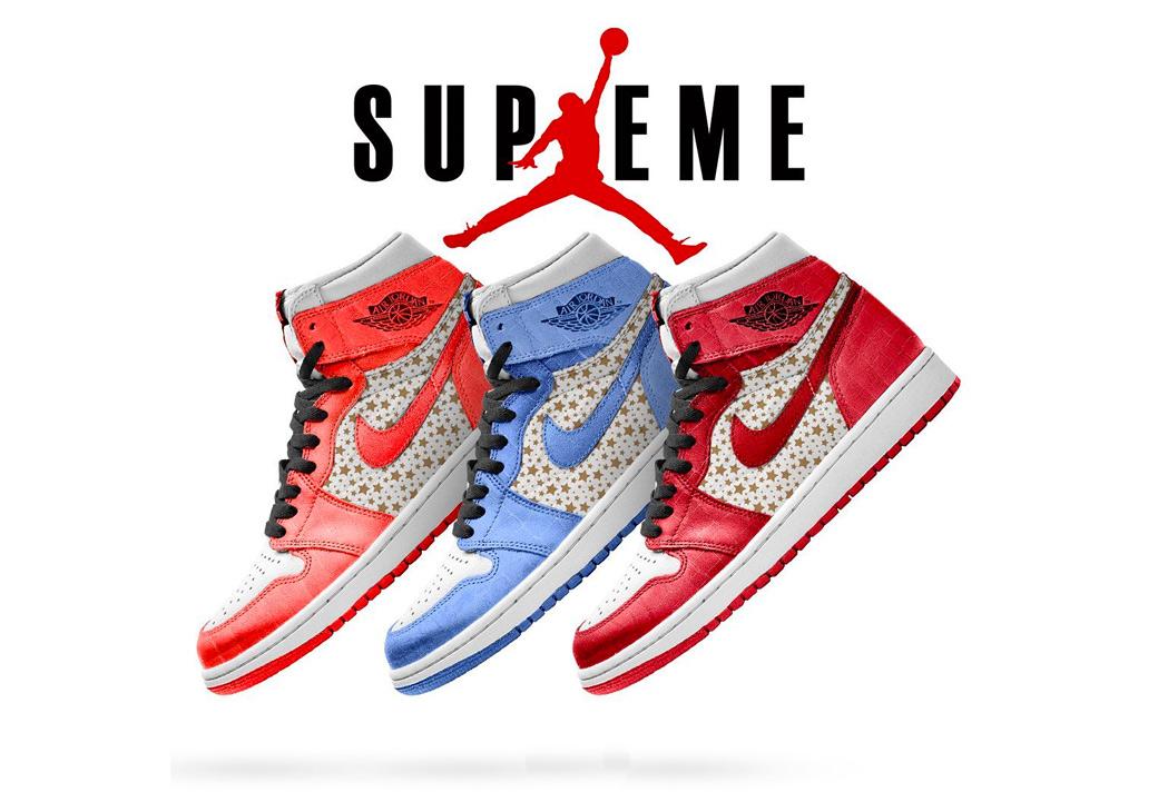Supreme,Air Jordan 1,AJ1  Supreme 终于要跟 AJ1 联名了!这样的设计肯定能火!