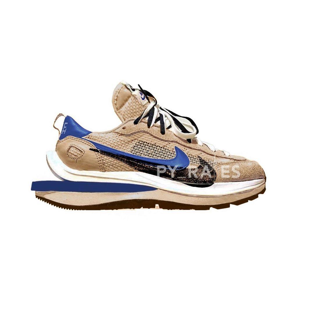 Nike,sacai,VaporWaffle,发售  「湖人」sacai x Nike 渲染图曝光!你猜詹姆斯会穿么?