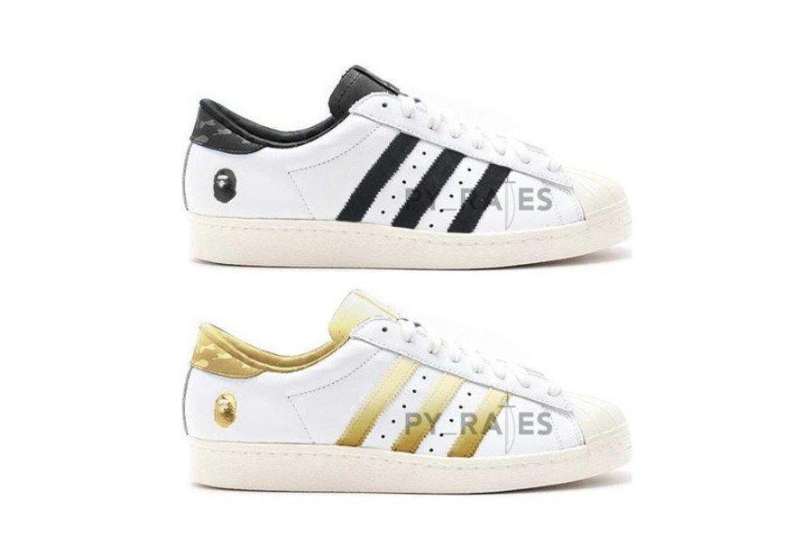 Bape,adidas Superstar,80s  原汁原味街头气质!Bape x adidas Superstar 80s 首度曝光!