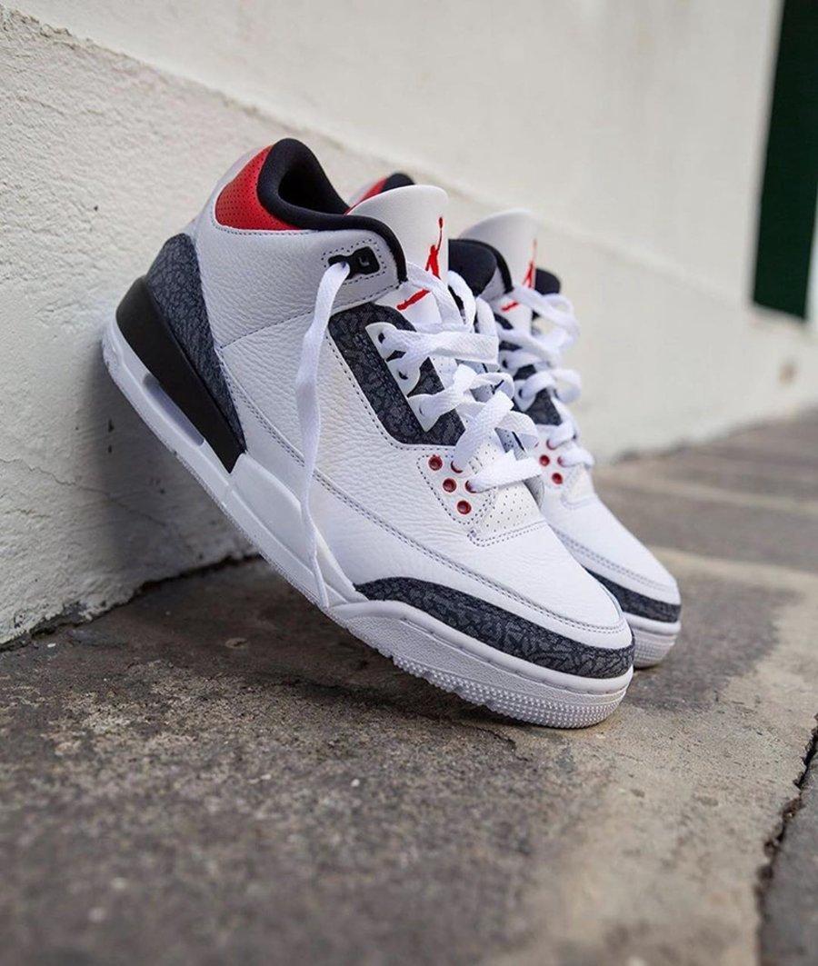 Air Jordan 3 SE DNM,Fire Red,A  今年 Jordan Brand 的骚操作!新火焰红 AJ3 上脚效果你打几分?