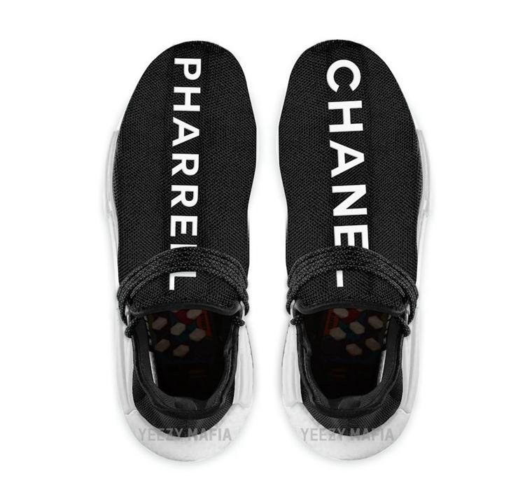 Pharrell,adidas,NMD,Hu,GY0093  酷似天价菲董香奈儿联名!adidas NMD Hu 全新纯黑配色看着就贵!