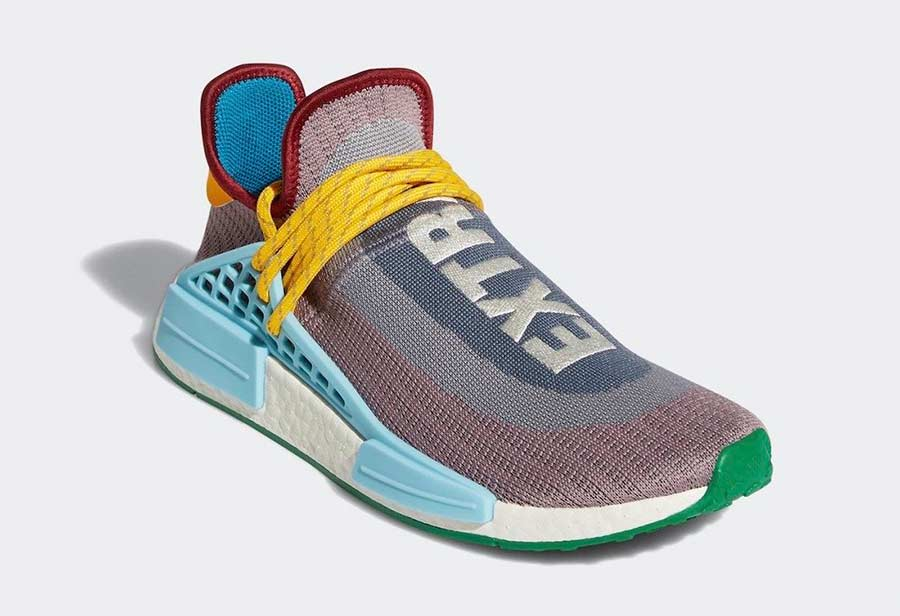 Pharrell,adidas,NMD Hu,Extra E  多颜色拼接鞋面!菲董全新刺绣标识 adidas NMD HU 即将发售!