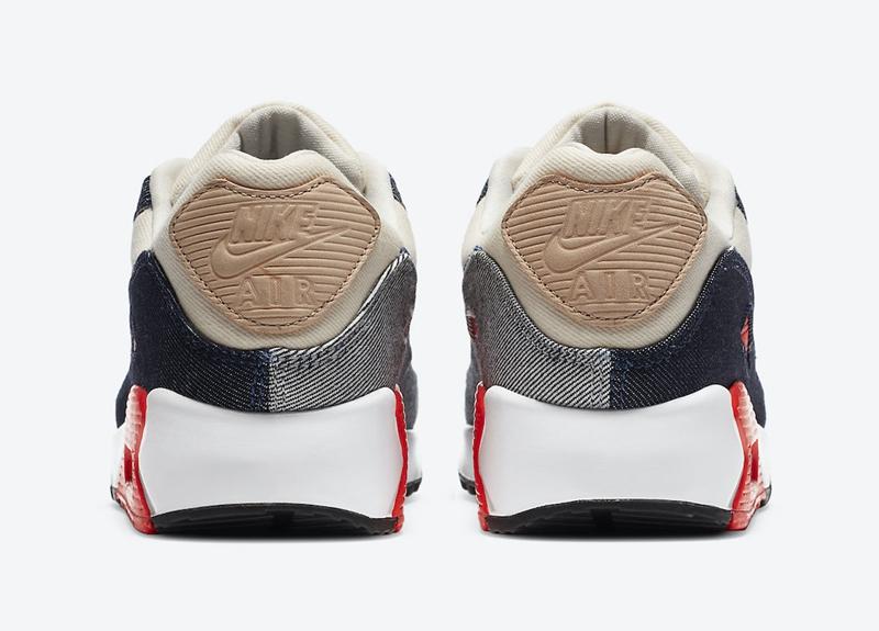 Nike Air Max 90,CU1646-400  又一丹宁牛仔系列!DENHAM x Air Max 90 月底发售!
