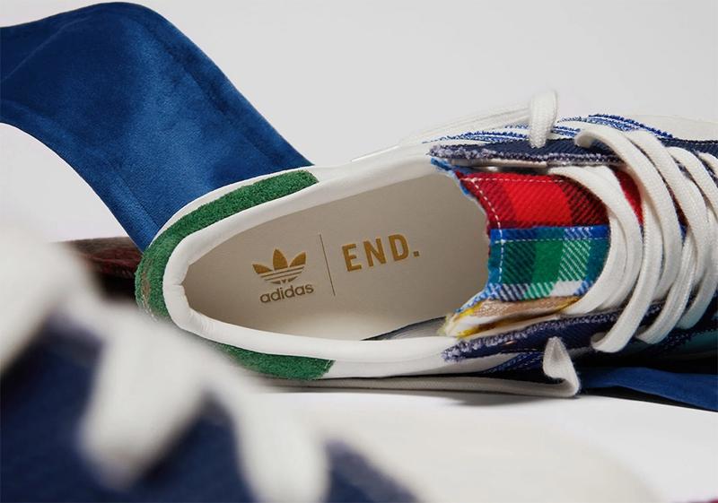 独特鸳鸯拼布设计!adidas x END 全新联名 Superstar 即将发售!