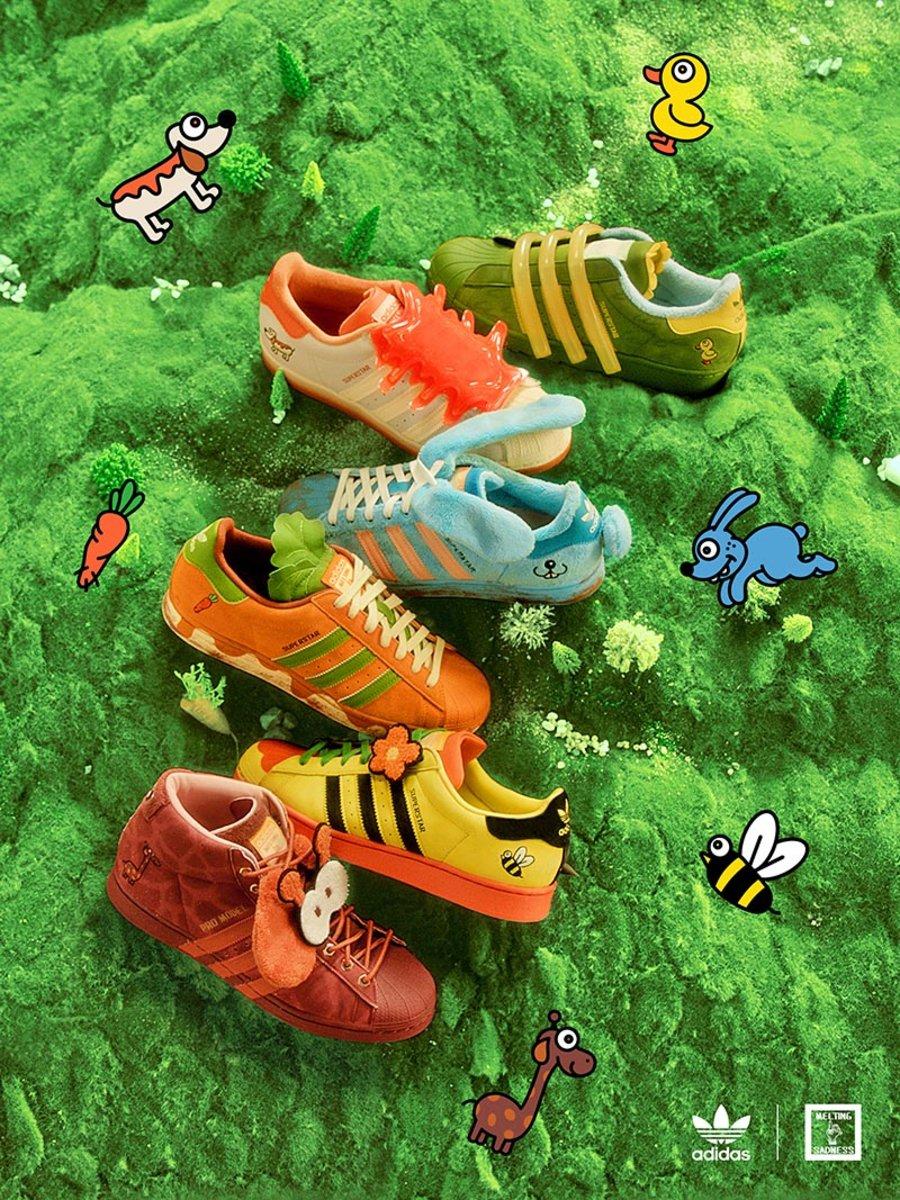 adidas Originals,Melting Sadne  限量 30 双,只送不卖!三叶草超萌联名 APP 刚刚上线!