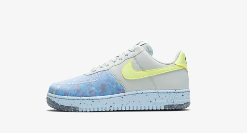 Nike,Air Force 1,Crater  大面积回收材质打造!全新 Air Force 1 即将发售!