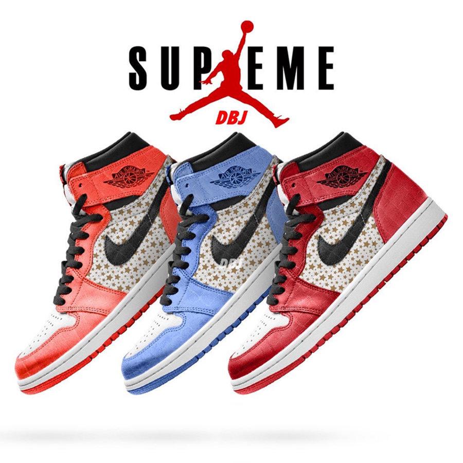 Supreme,Air Jordan 1,AJ  Supreme x Air Jordan 1 最新消息!鞋身细节有变化!