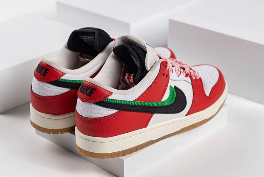 CT2550-600,Dunk SB,Nike,Frame CT2550-600 酷似芝加哥配色!「双钩」Dunk SB 上脚图来了!