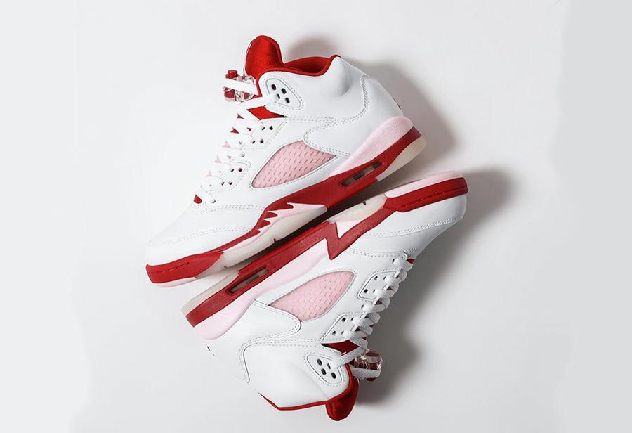 红粉细节太骚气!Air Jordan 5 全新配色现已正式发售!