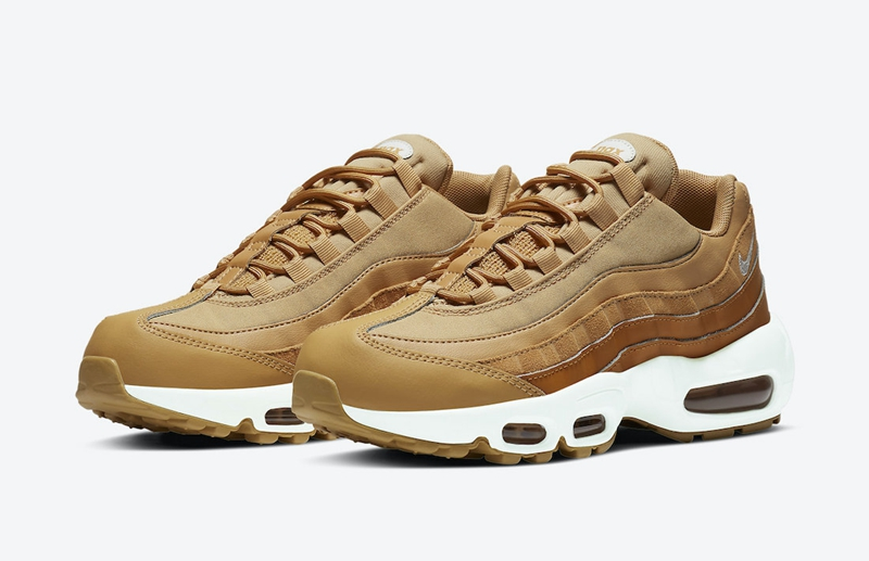 "秋冬必备配色!全新 Air Max 95 WMNS ""Wheat"" 官图释出!"