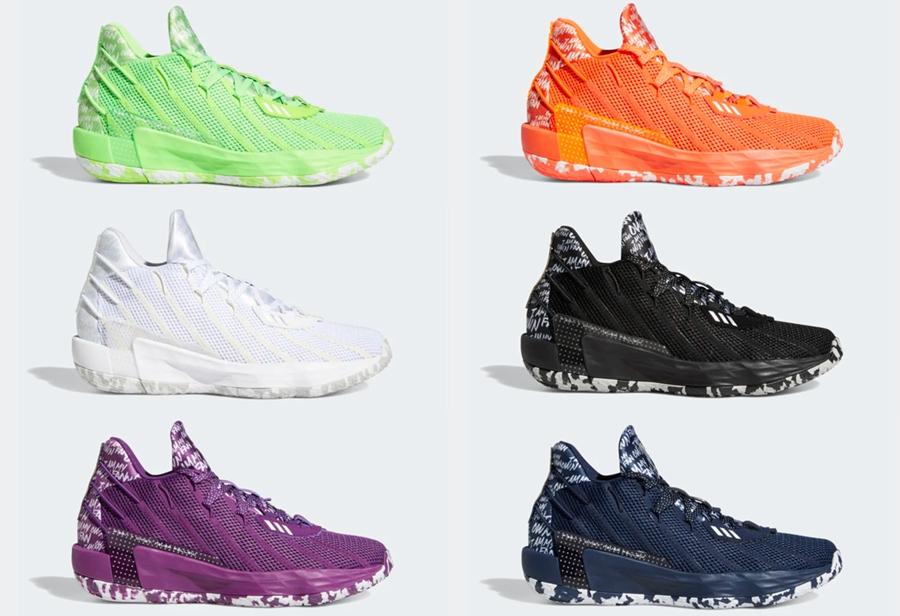 adidas 也来玩调色板!DAME 7 一口吻发售 6 双!