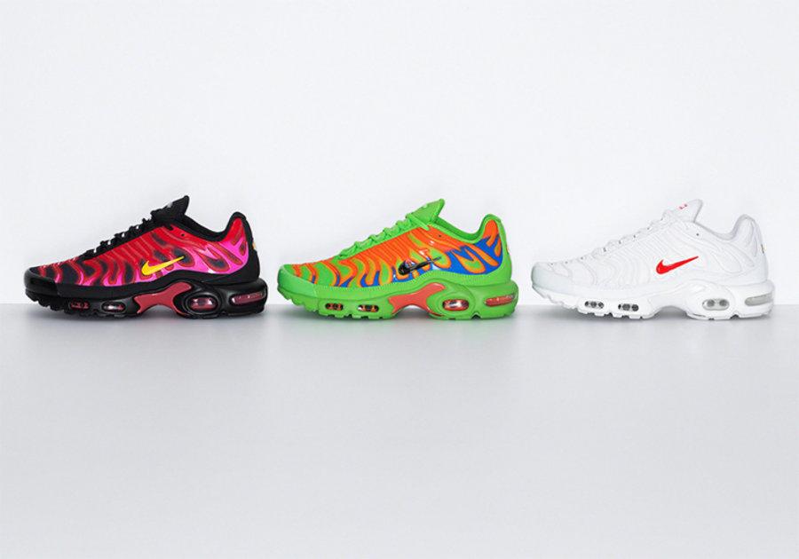 Supreme,Nike,Air Max Plus TN  一口气三款配色!Supreme x Nike 全新联名曝光!后天就发售!