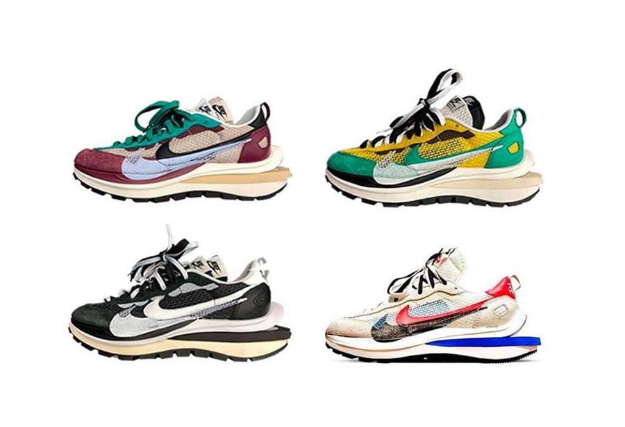sacai,Nike,VaporWaffle  不少人翘首以盼的 sacai 联名终于来了!首发就有 4 款配色!