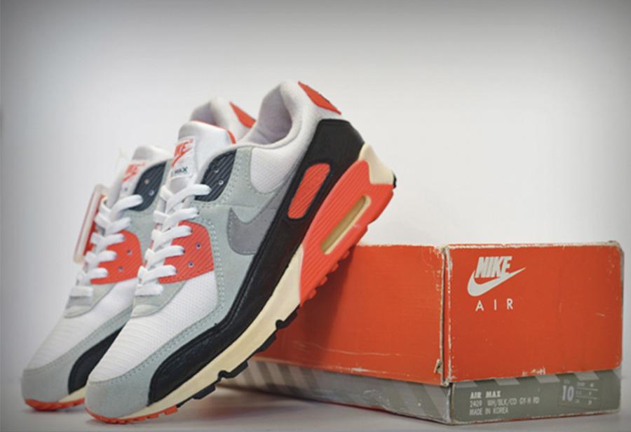 Nike,Air Max 90,Infrared,CT168  这双 Nike 火了 30 年!最经典的 OG 配色下月复刻!