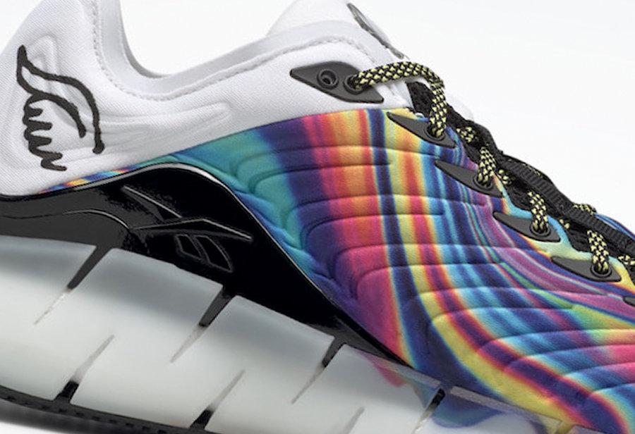 Reebok,Zig Kinetica,FX3363  魔性的炫彩装扮!这双 Reebok 新鞋真够奇特!