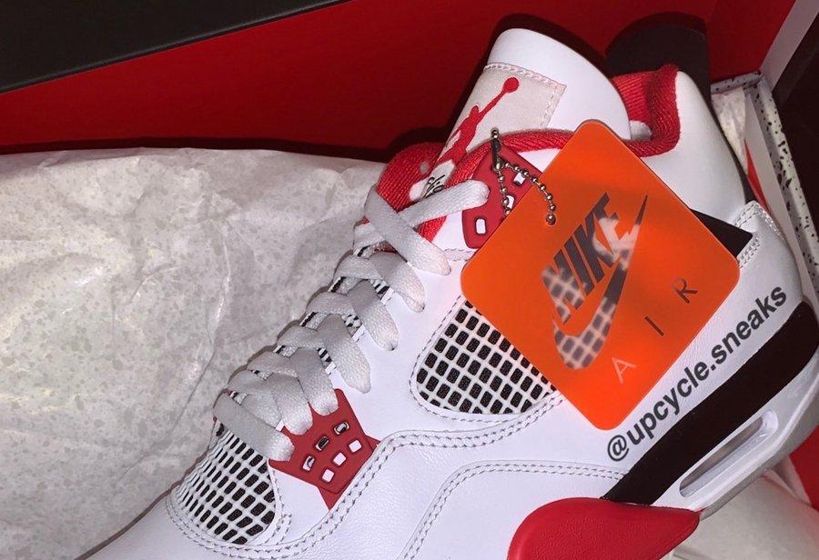 Air Jordan 4,AJ,AJ4,Fire Red,D  完美还原元年版本!全新「火焰红」AJ4 实物细节曝光!