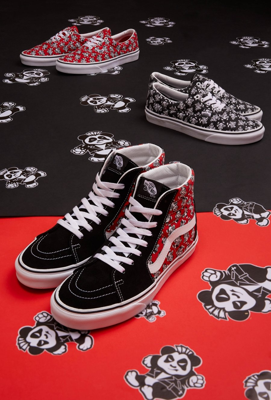 Vans,SK8-Hi,Era,Old Skool,VN0A  朋克熊猫系列!Vans 全新主题看着就很可爱!