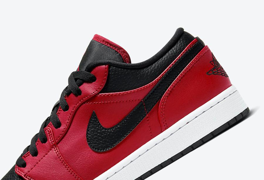 AJ,AJ1 Low,Air Jordan 1,Gym Re  大面积荔枝皮材质!又一款黑红 Air Jordan 1 Low 曝光!