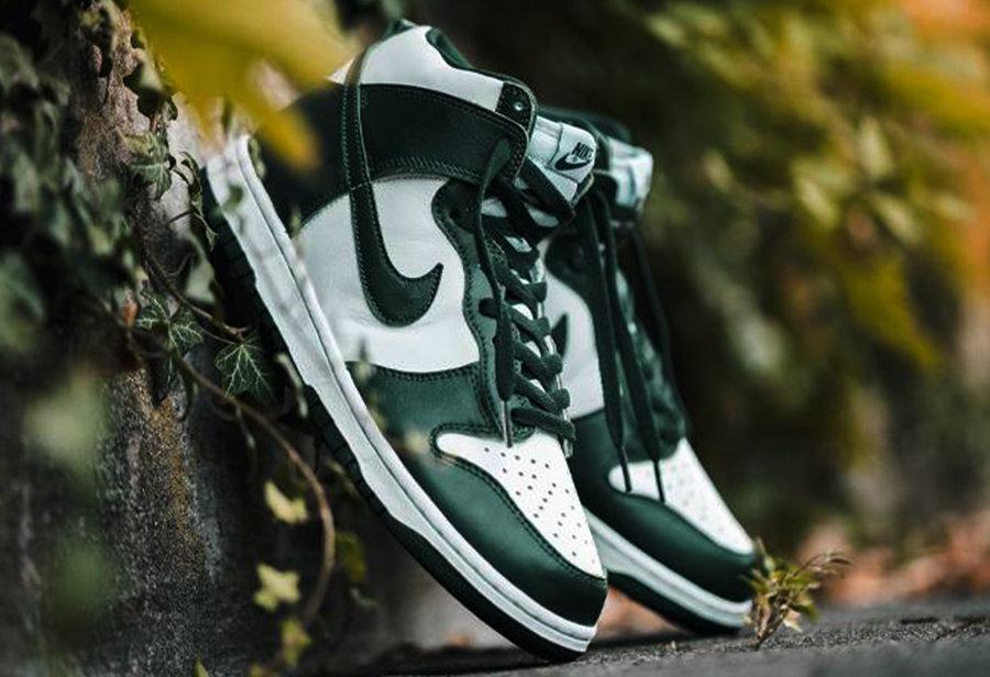 Nike Dunk High,Spartan Green,C  市价翻倍!今早两款 Dunk 同时发售,你抢到了么?