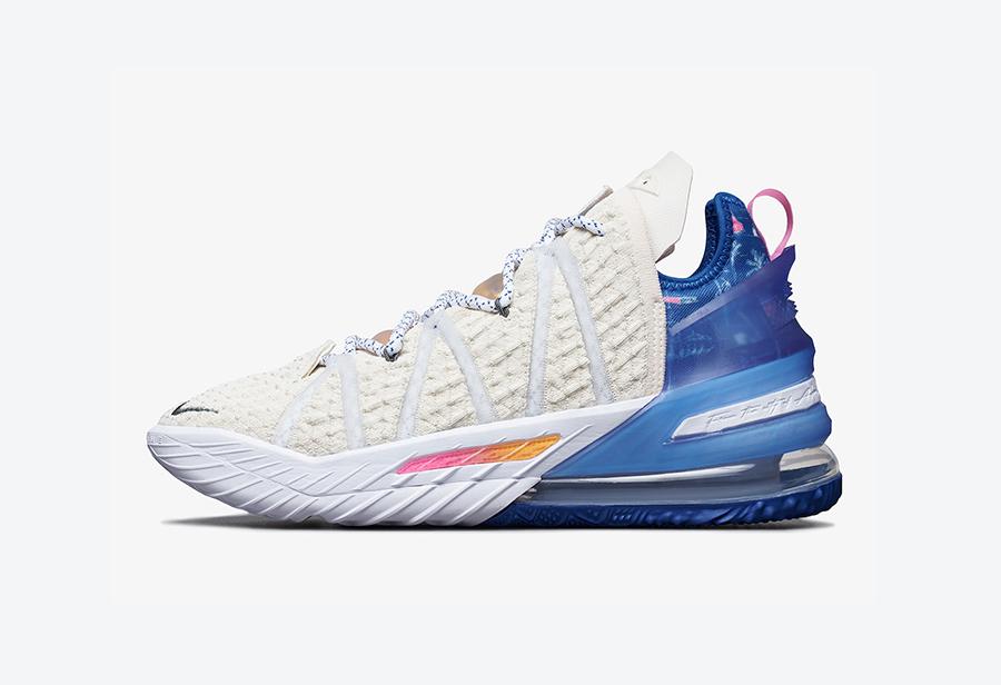 Nike,LeBron 18,DB8148-200,发售  致敬天使之城!洛杉矶配色 LeBron 18 下月发售