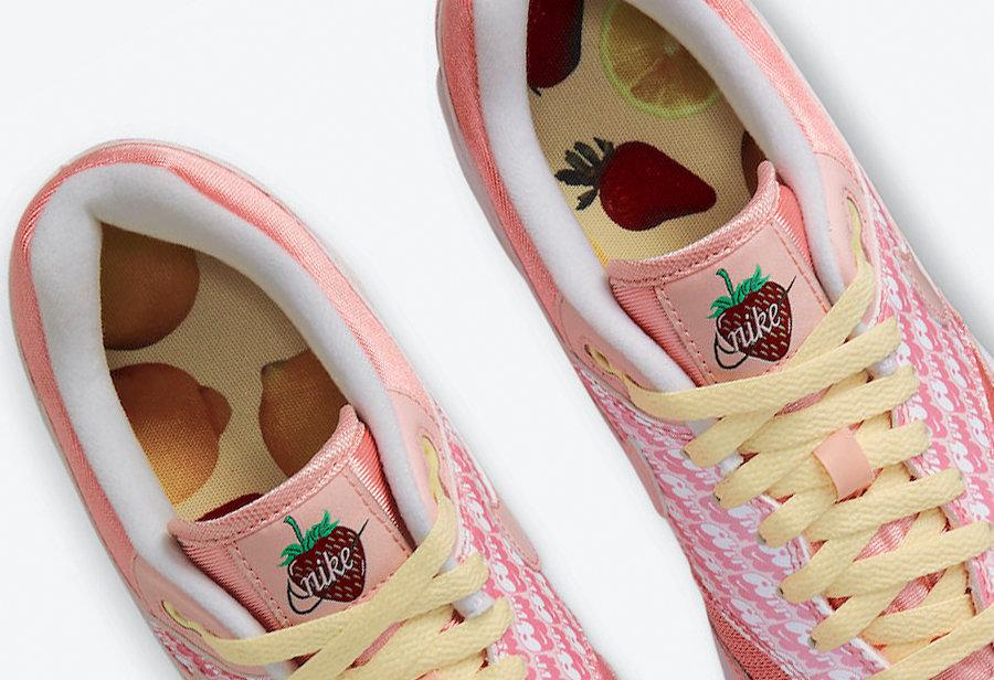 Nike,Air Max 1,Strawberry Lemo  「闪光草莓」Air Max 1 惊艳登场!这细节我愿称为年度最美!