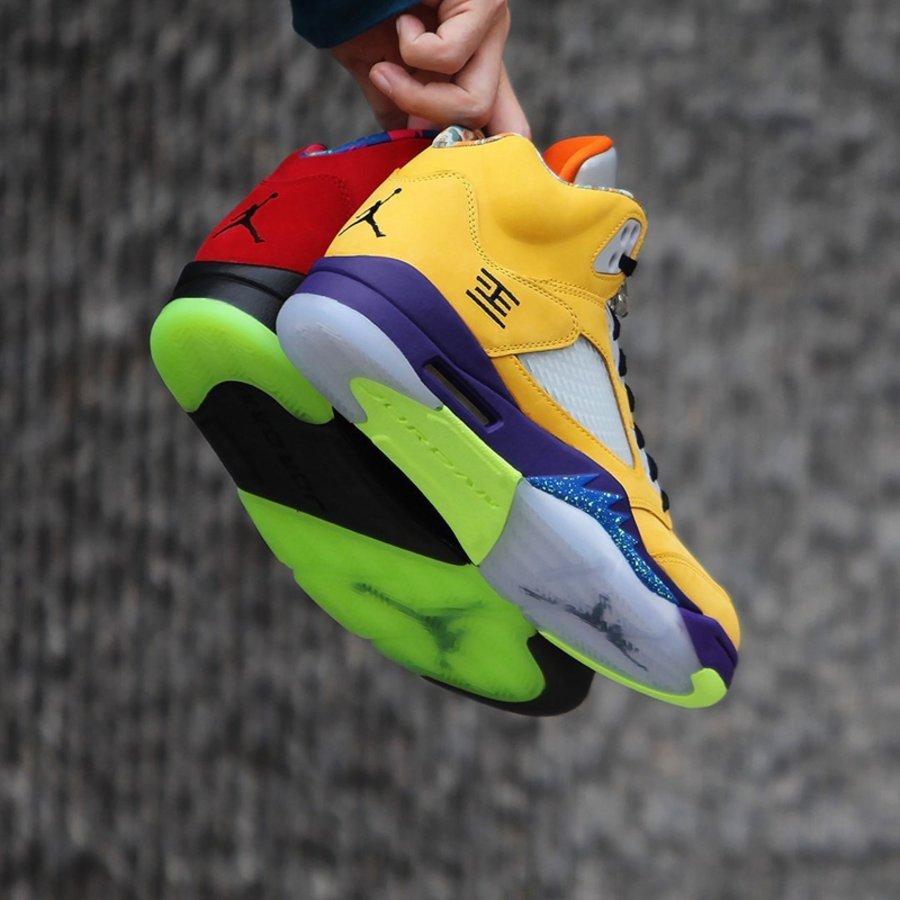 AJ,Air Jordan 5,What The,CZ572  天价配色合体!全新 AJ5 鸳鸯今早你抢到了吗!