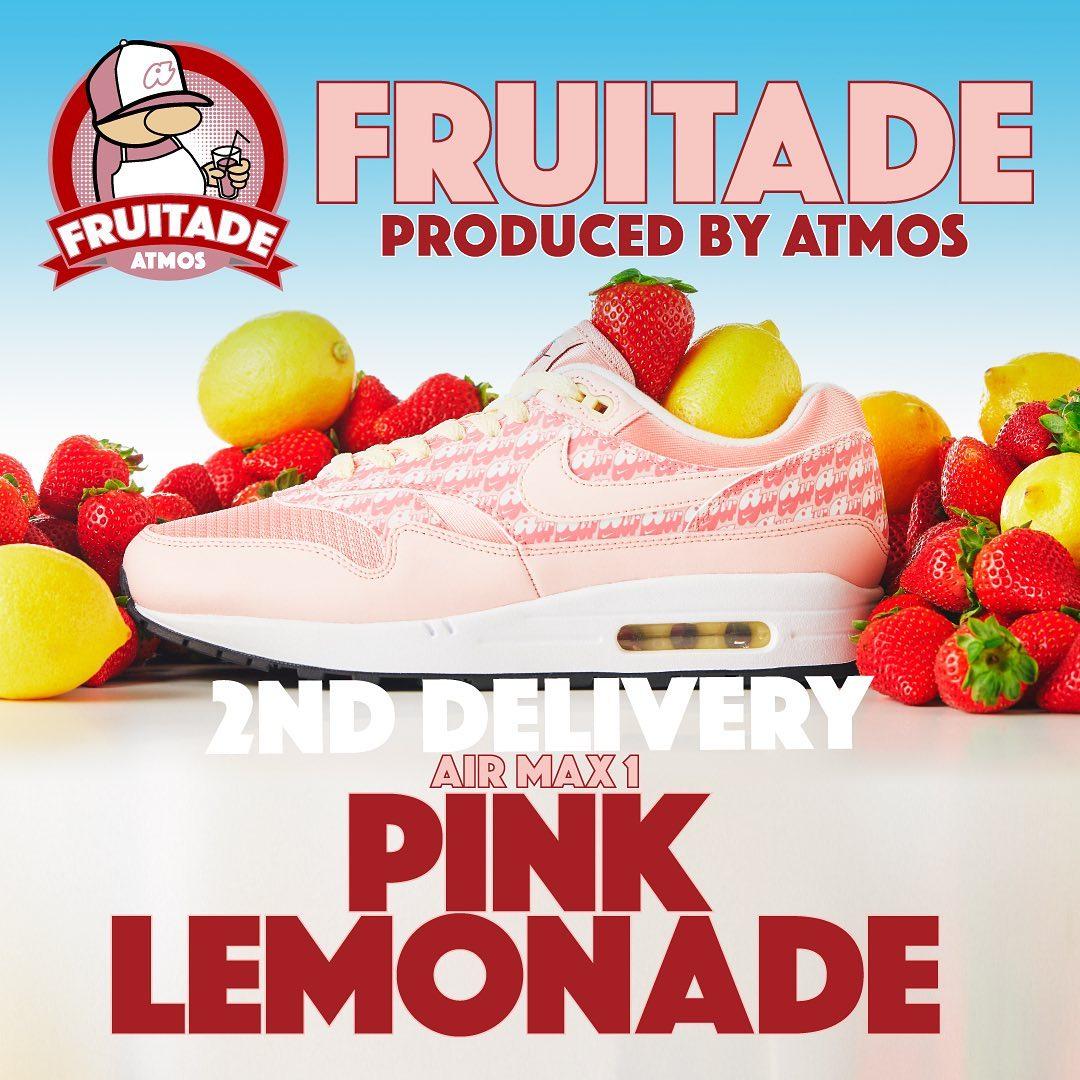 Nike,Air Max 1,CJ0609-600,发售  可可爱爱秀色可餐!草莓柠檬 Air Max 1 下周发售