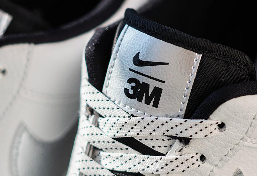 3M,Nike,AF1  硬核 3M x Nike 联名!大面积 3M 材质!鞋带都能反光!