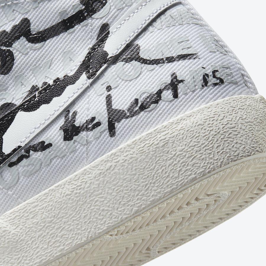 Nike,CDG,Blazer Mid,DA5383-100  CDG x Nike 又有三方联名!弹幕配色 Blazer 本月发售