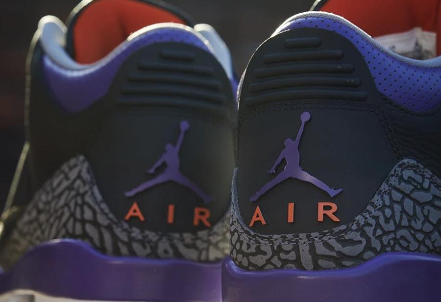 Air Jordan 3,AJ3,CT8532-050,发售  更像太阳配色!黑紫 Air Jordan 3 最新美图来了!本周发售!