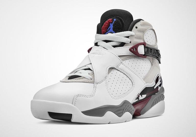 AJ8,Air Jordan 8,WMNS,Burgundy  复古酒红色装扮!全新配色 Air Jordan 8 即将发售!