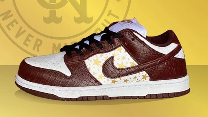 Nike,Supreme,SB Dunk Low,DH322  Supreme x SB Dunk 全新上脚图曝光!棕色鳄鱼皮也太高级了!