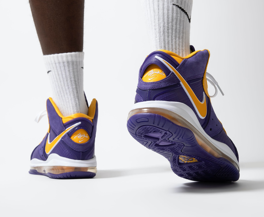 Nike,LeBron 8,Lakers,DC8380-50  上腳效果不一般!湖人配色 LeBron 8 下周二發售!