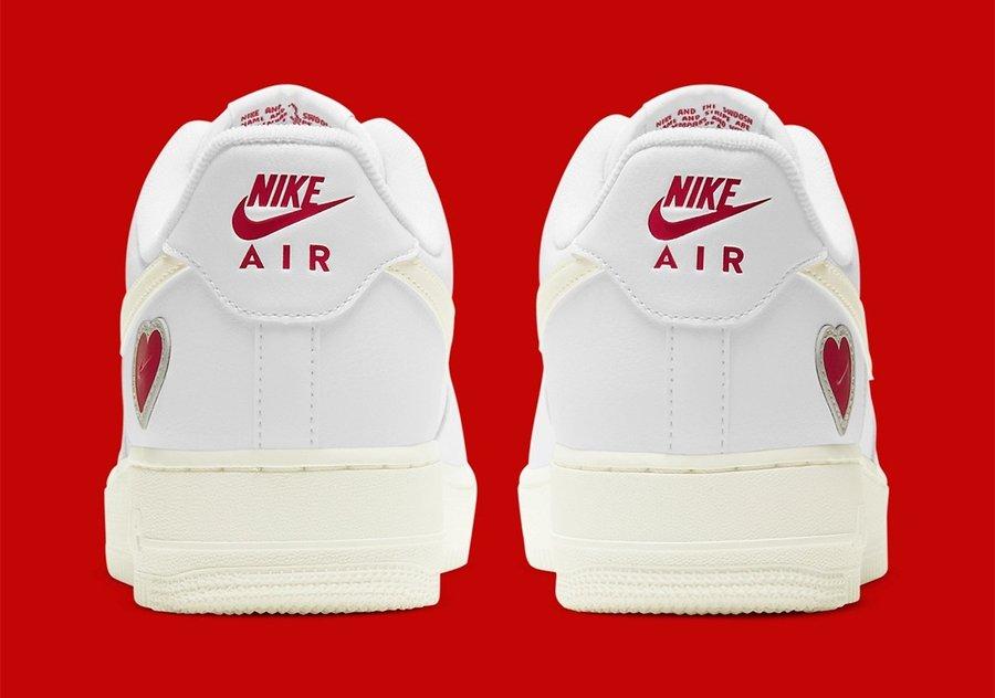 Air Force1,Nike,DD7117-100 情人节限定来袭 红色爱心彰显身份!情人节 AF1 官图释出!