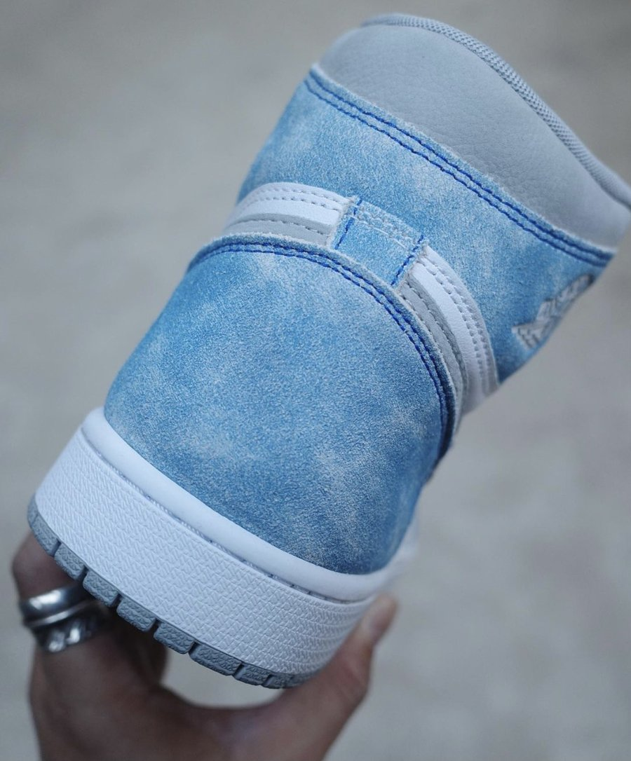 Air Jordan1,AJ1,发售,555088-402  复古做旧质感!水洗蓝 AJ1 实物完整曝光!有点帅!