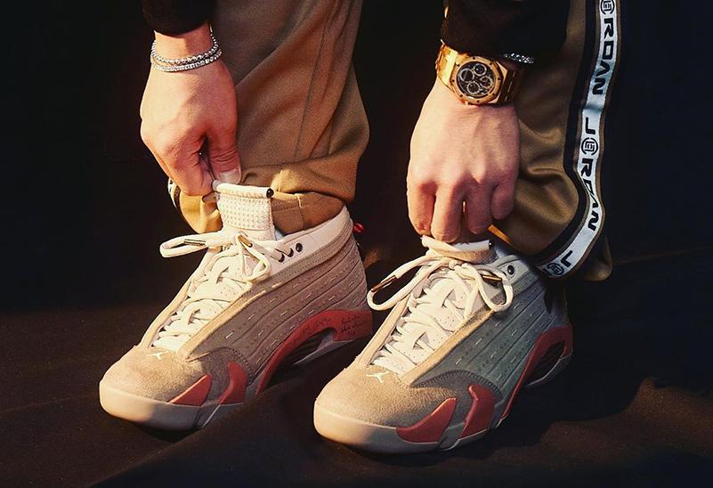 CLOT,AJ,AJ14,Air Jordan 14 Low  刚刚!冠希上脚 CLOT x AJ14 Low!「兵马俑」你真香了吗?!