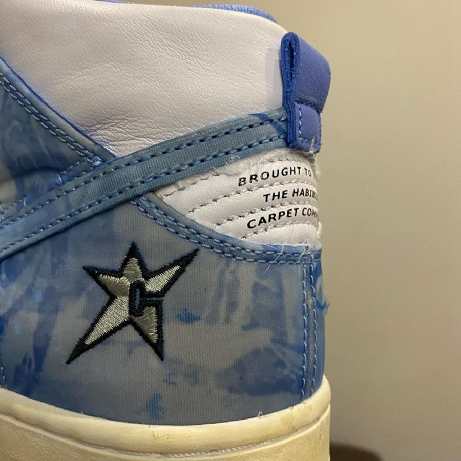 Nike,SB Dunk High,Carpet Compa  光看细节就买不起!全新土豪联名 SB Dunk Hi 明年登场!