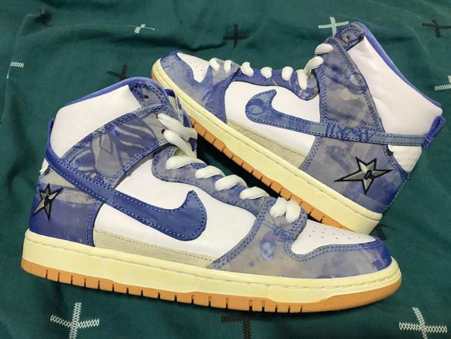 Carpet Company,Nike SB Dunk Hi  「地毯公司」Dunk 再曝实物图!鞋身竟全是刮刮乐设计?!