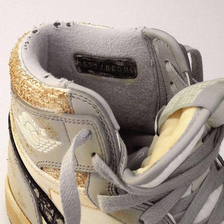 Daniel Arsham,Dior,Air Jordan  氧化、泛黄、掉渣!「最惨」Dior x AJ1 诞生!却比全新的还要贵?!