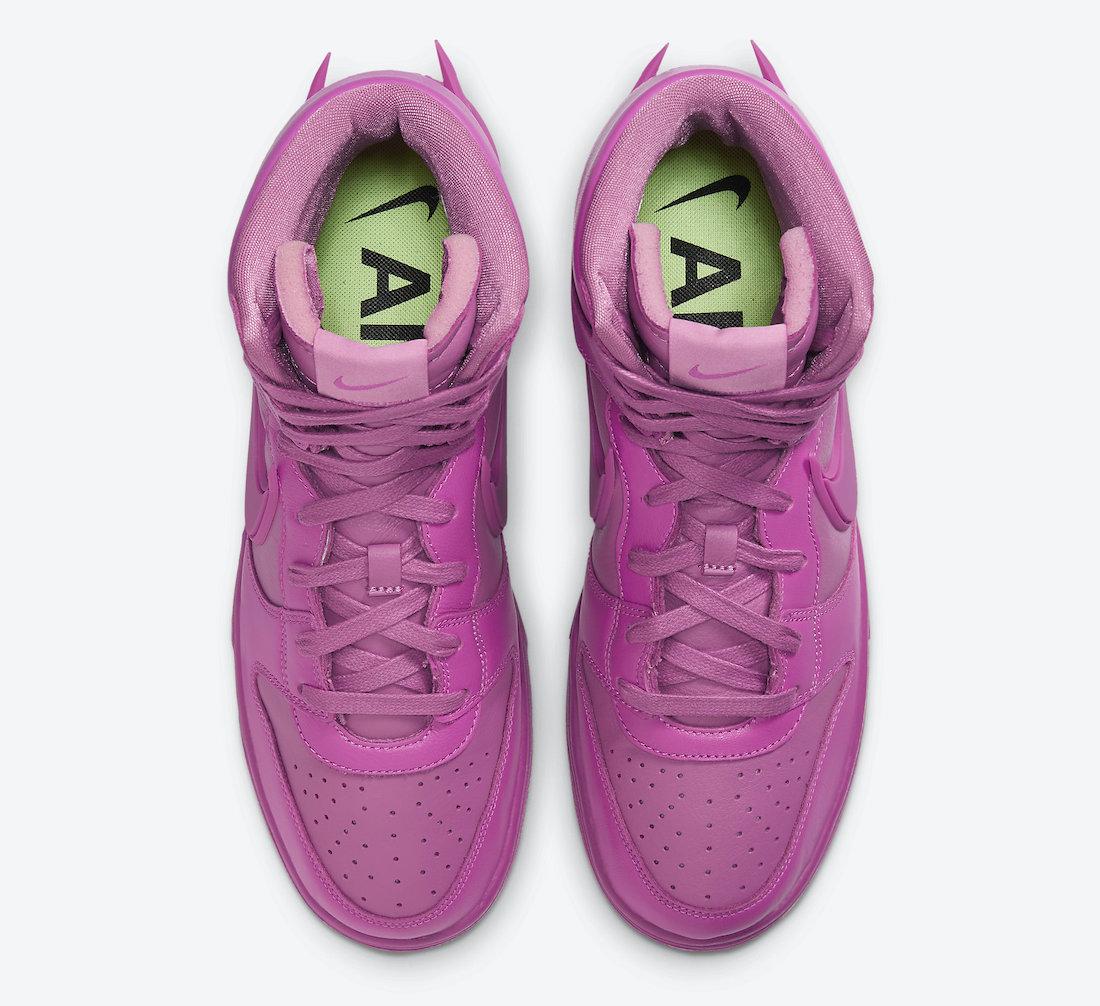 AMBUSH,Nike,Dunk Hi,CU7544-600  骚粉 AMBUSH x Dunk High 本月发售!首发配色都涨疯了!