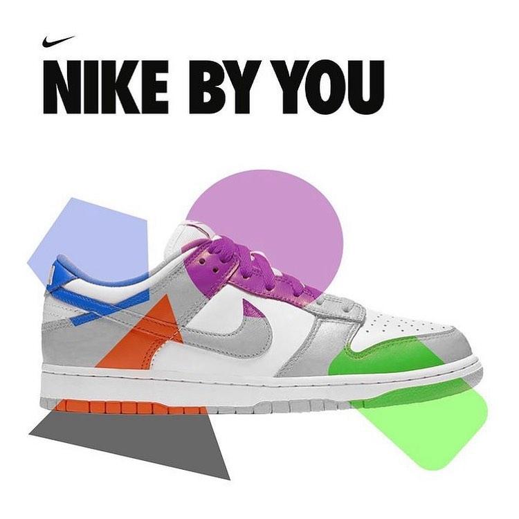 Nike,定制,Dunk,Nike By You  闪电、黑脚趾配色都有!Nike 官方开启 Dunk 定制选项!