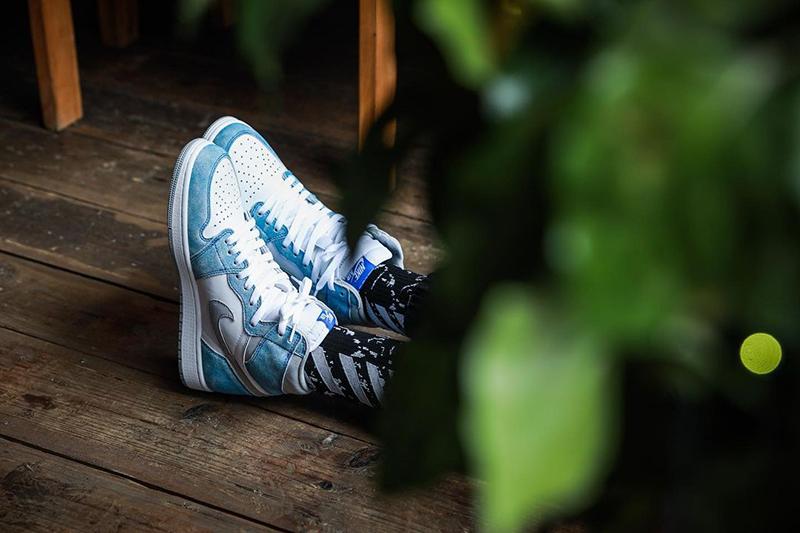AJ1,555088-402,Air Jordan1  复古做旧质感!「水洗北卡」Air Jordan 1 上脚图曝光!