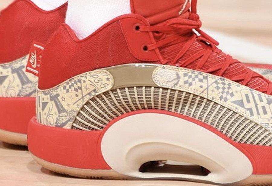 《把文身印在鞋上!Air Jordan 35 塔图姆 PE》