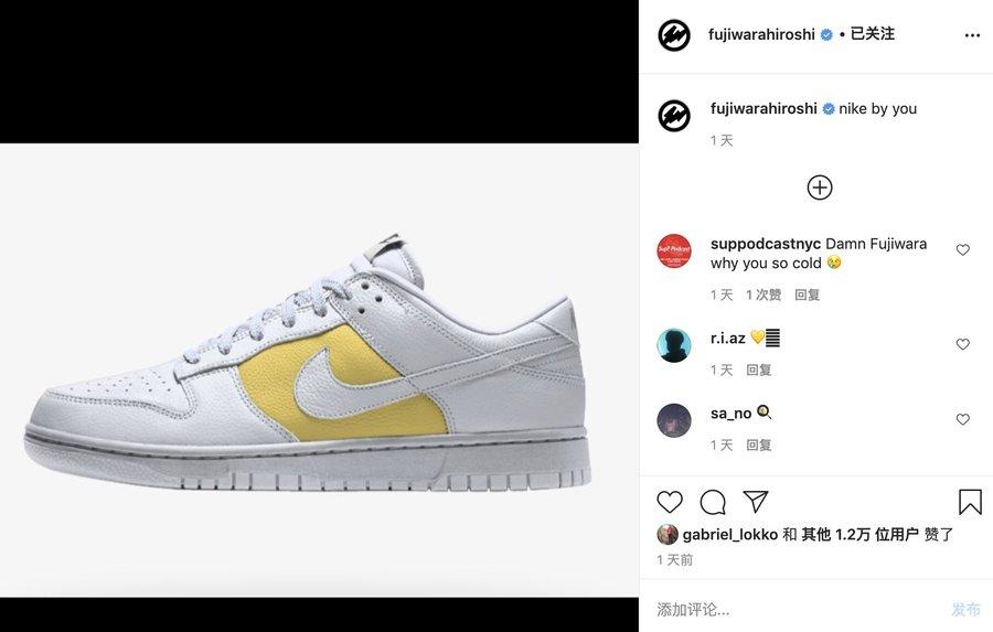 Nike,Dunk, Dunk By You  藤原浩都真香了!Dunk 官方定制市价翻三倍!