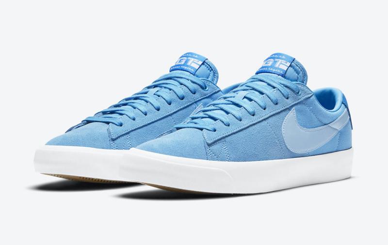 亮,蓝色,麂皮,鞋面,Nike,全新,联名,Blazer,致  亮蓝色麂皮鞋面! Nike 全新联名 Blazer 官图曝光!