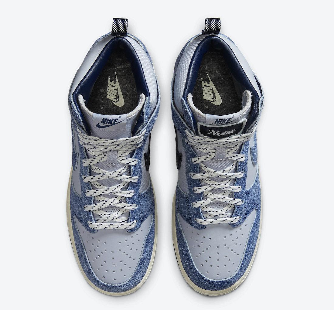 Dunk,Nike,CW3092-400  高规格联名!Notre x Dunk Hi 第二款配色官图释出!