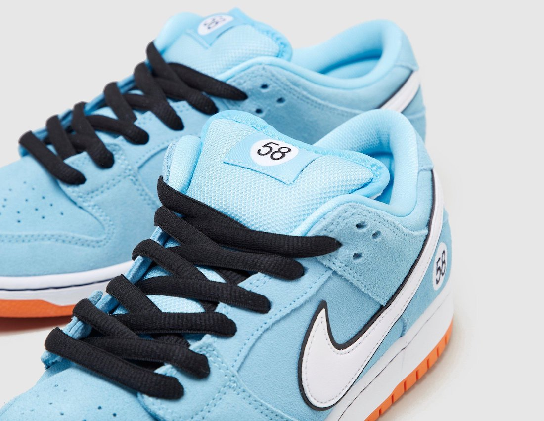 Dunk SB,Nike,BQ6817-401  清爽蓝色装饰!全新「赛车」Dunk SB 即将发售!