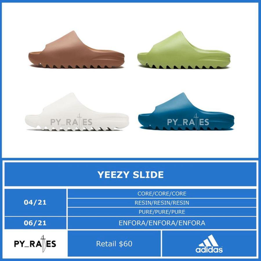 adidas,Yeezy,Yeezy Slide,Core,  初代翻倍涨!全新 adidas Yeezy Slide 即将发售!