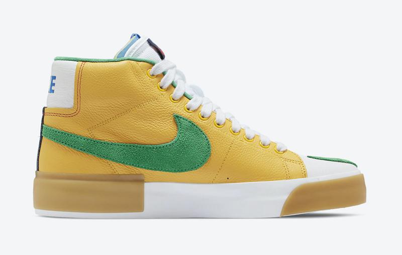 Nike SB,Blazer Mid,Edge,Multi-  极具创意拆线设计!大胆撞色 Nike SB Blazer Mid 一眼就爱!