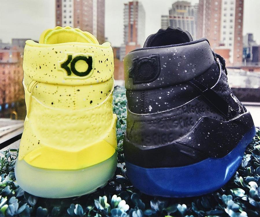 Nike,KD13,  泼墨压印效果点缀!Nike KD13 全新联名配色曝光!